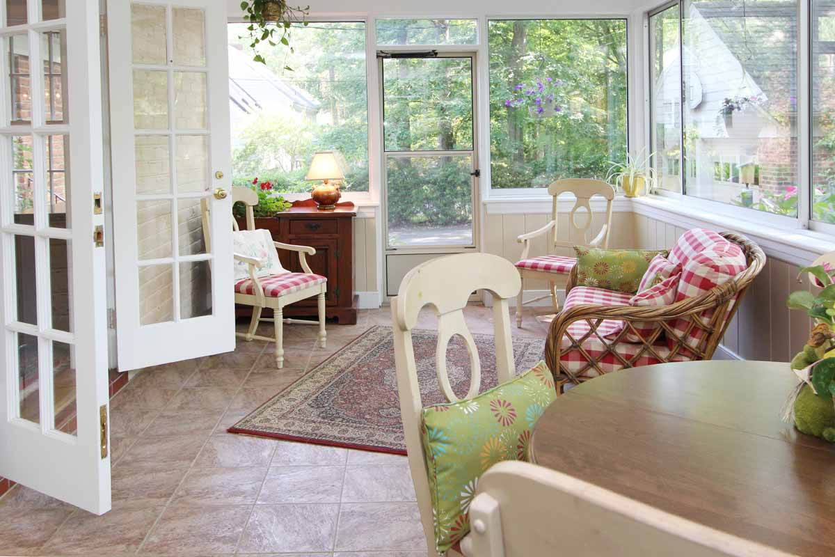 Sun Room Family Gathering Adjoining The Kitchen And Dining